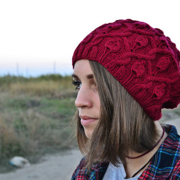 FREE SHIPPING - beanie hat knit, womens beanie hats, womens hats, ladies winter hats, gifts for her, wool hat