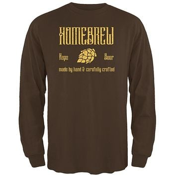 Homebrew Hops Beer Hand Crafted Mens Long Sleeve T Shirt