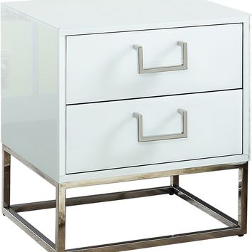 Nova White Side Table
