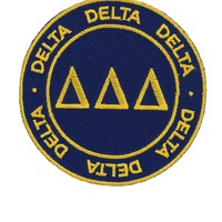 Toss Delta Delta Delta Peel and Stick Patch
