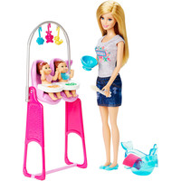 Barbie Careers Twins Babysitter Playset