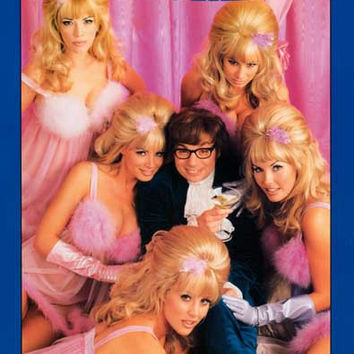Austin Powers 1998 Movie Poster 23x35
