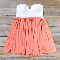 Sweetheart & Mint Dress in Peach