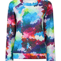 Colorful Graffiti Print Sweatshirt