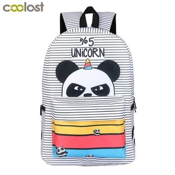 University College Backpack 2018 Newly Panda  for Teenager Girls Laptop mochila feminina Unicorn  Student School  Women Travel BagsAT_63_4