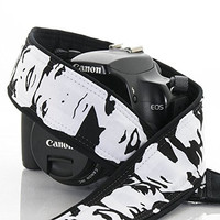 Photo Booth Camera Strap, 148 Black and White, dSLR, SLR, Mirrorless