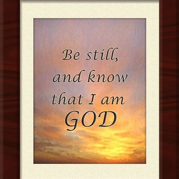 Framed - Be Still and Know I am God