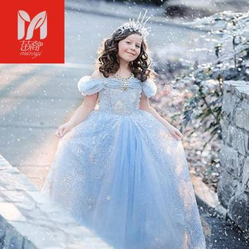 Girls Clothes Cinderella dress for Girls Cosplay Princess Dress Kids Costume Girls Summer Girls Dress New 3-10Yrs New Year