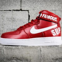 Supreme x Nike Air Force AF 1 High Red/White 94 SUP 698696-610