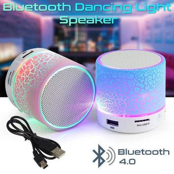 Bluetooth Mini Speaker Wireless Sound Audio Dancing LED Light Portable Bass Dock