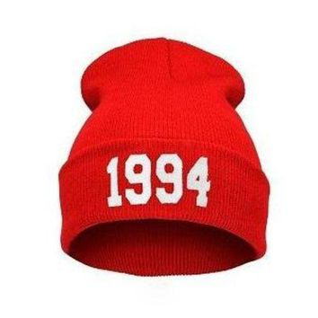 Perfect 1994 Print Hiphop Women Men Beanies Winter Knit Hat Cap