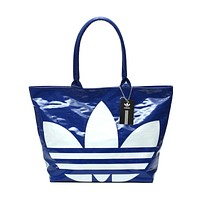 ADIDAS Trending Women Shopping Bag PU Leather Shoulder Bag Handbag Tote Blue