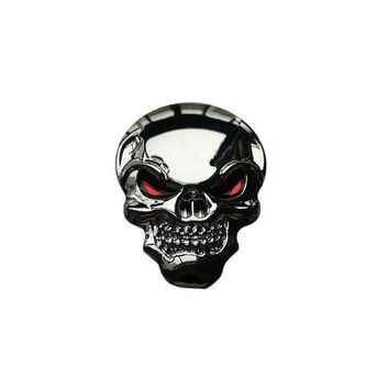 Car Styling 3D Metal Skull Pattern Funny Car Sticker And Decal For prado honda toyota mazada Waterproof DIY Car Accessories - Silver