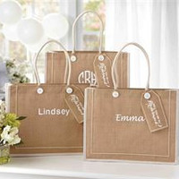 """Personalized """"WILL YOU BE MY BRIDESMAID"""" BurlapTote Bag/Wedding"""