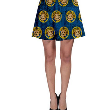 Fallout 4 Inspired Skirt - Women's skirt- Super Soft Fallout 4 video game Vault Boy Vault suit skater style Vault 111