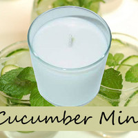 Cucumber Mint Scented Candle in Tumbler 13 oz