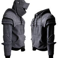 Dark Grey Duncan Armored Knight Hoodie100 Handmade by iamknight