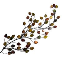 Elegant Leaves Metal Wall Home Decor