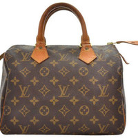 Louis Vuitton Vintage Canvas Speedy 25 City Bag