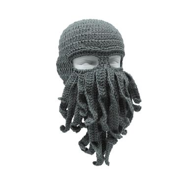 Men's Octopus Beard Beanie