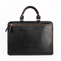 Black Full Leather Briefcase