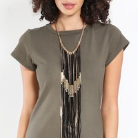 Fringe Forever Statement Necklace