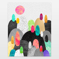 Little Land of Pebbles Art Print by elisabethfredriksson on BoomBoomPrints