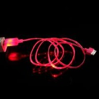 Hybrid Electronics iPhone 5 LED Charger, Light Up Charging Cable Luminescent Visible Current Flow Smart Charger & Sync Cable for Apple iPhone 5 (Pink)
