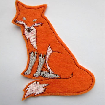 Iron On Patch Orange Fox Applique