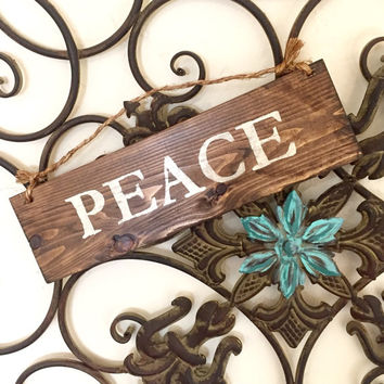 Peace Sign / Bohemian Sign / Holiday Decor