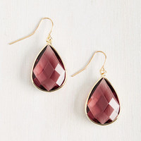 Receiving Drop Honors Earrings in Aubergine