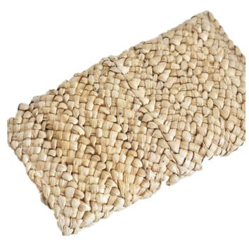 Hand-knitted bag with corn husk for Women
