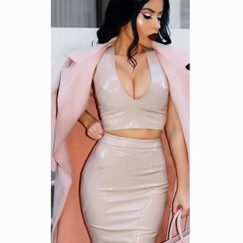 """ALEXA"" LEATHER 2 PIECE SET"