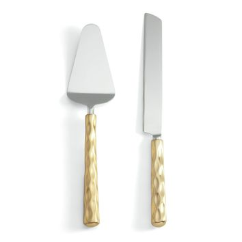 Truro Gold Cake Knife Set