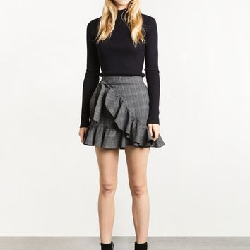 Ruffled Wrap Tie Skirt