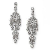 USABride Rhinestone Dangle Chandelier Earrings, Special Occasion Jewelry 1243