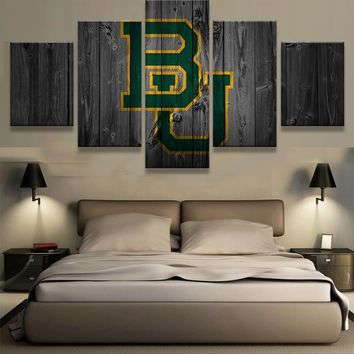 Baylor Bears: 5pc BU Wall Art; 3 sizes available, with or without frames