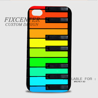 Colorful Piano Keys 3D Image Cases for iPhone 4/4S, iPhone 5/5S, iPhone 5C, iPhone 6, iPhone 6 Plus, iPod 4, iPod 5, Samsung Galaxy (S3, S4, S5) by FixCenters
