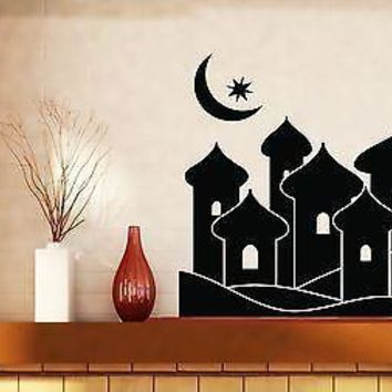 Wall Stickers Vinyl Decal Fairy Eastern City Aladdin Magic Moon Star Unique Gift (n217)