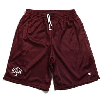 Triboro Champion Mesh Shorts Burgundy