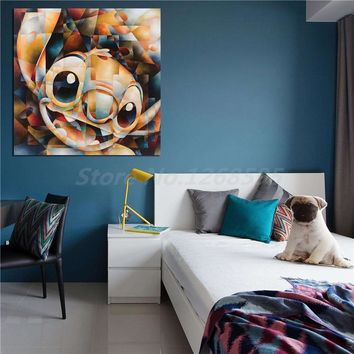 Stitch Of Lilo And Stitch Wall Art HD Canvas Posters Prints Painting Wall Pictures Artwork For Office Living Room Home Decor