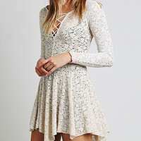 Lace Drawstring Asymmetrical Dress