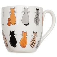 Cats in Waiting Bone China Mug