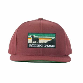 Dale Brisby Maroon Rodeo Time Sunset Snapback