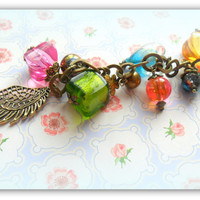 Boho Gold Bronze Angel Wing Bag Charm Key Ring Key chain