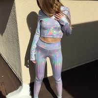 Strobe Hologram Leggings