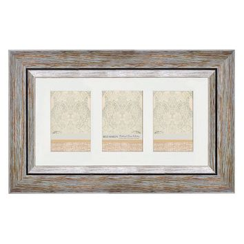 Belle Maison Weathered 3-Opening 4'' x 6'' Collage Frame (Blue)