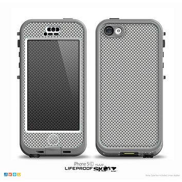 The Gray Carbon FIber Pattern Skin for the iPhone 5c nüüd LifeProof Case