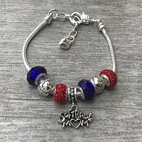 Softball Mom Pandora Style Bracelet