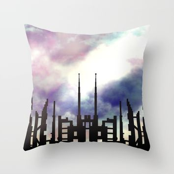 Cityskape Throw Pillow by Moonlit Emporium